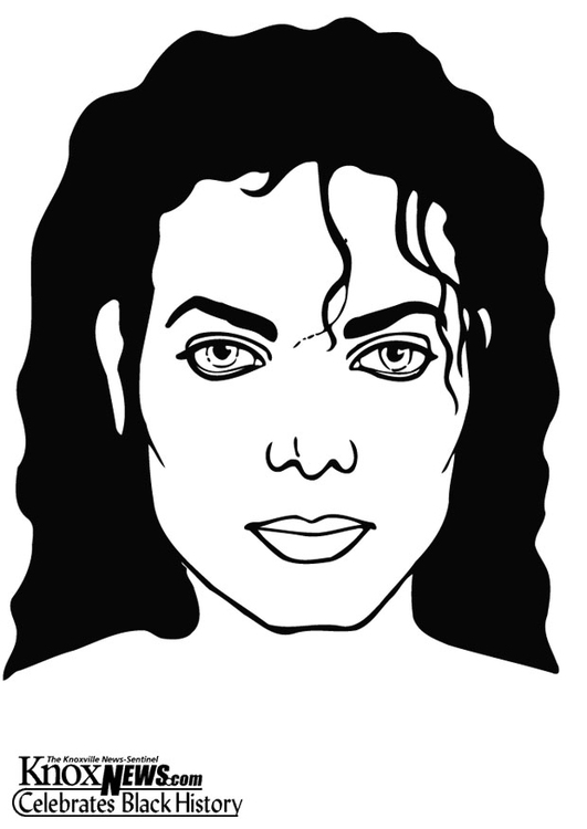Dibujo para colorear Michael Jackson - Img 12877