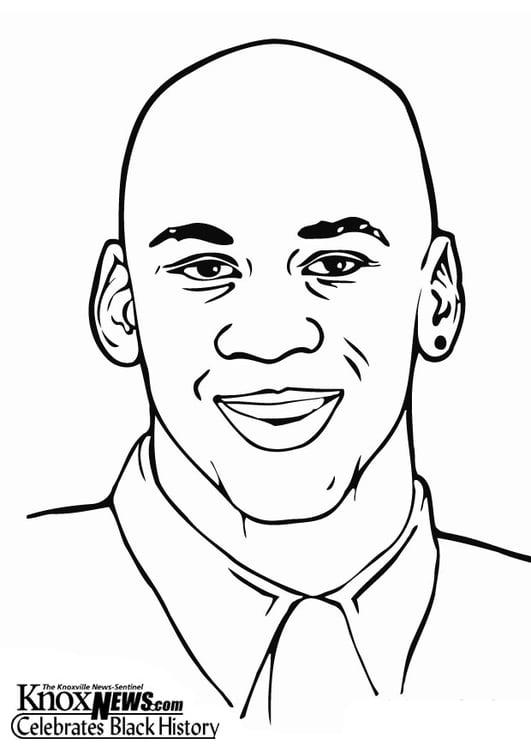 Dibujo para colorear Michael Jordan - Img 12858