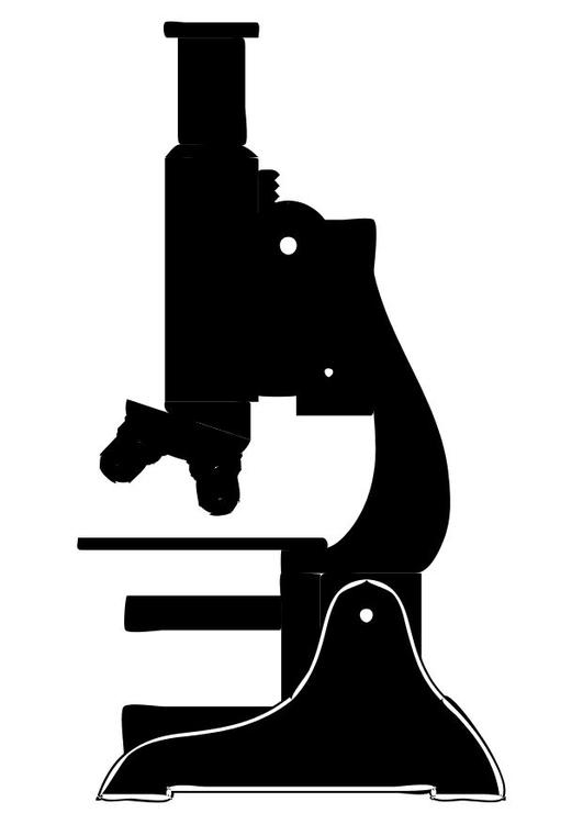 Dibujo para colorear Microscopio  Img 10247