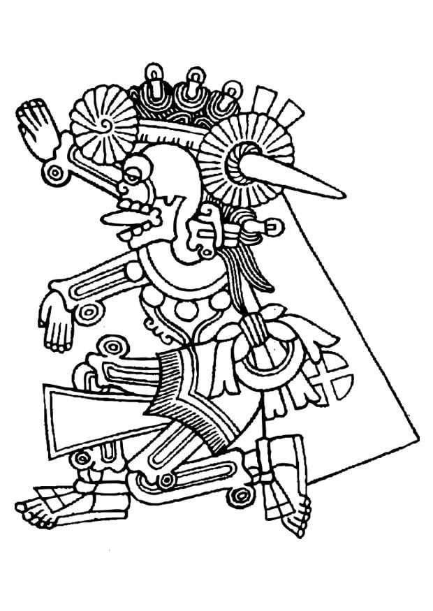 Dibujo Para Colorear Mictlantecuhtli Img 27160
