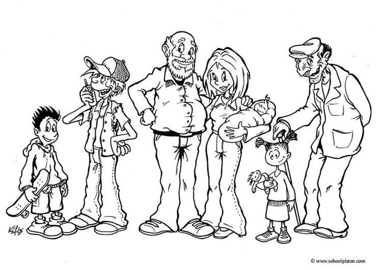 Dibujo para colorear Miembros de la familia - Img 14932