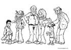 Dibujo para colorear Miembros de la familia