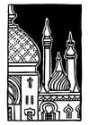 Dibujo para colorear Minarete