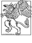 Dibujo para colorear Mitad león - mitad aguila