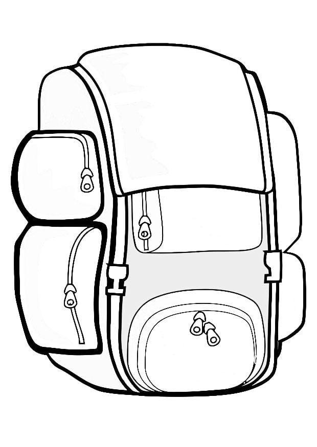 Resultado de imagen de mochila, dibujo