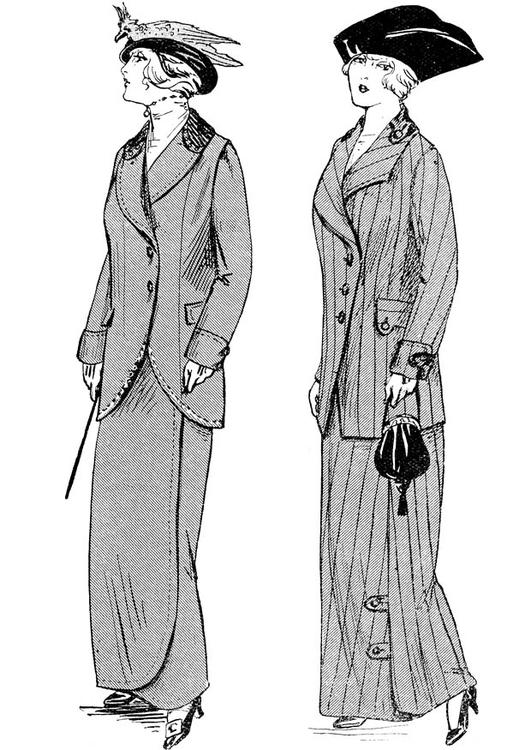 Dibujo para colorear moda de invierno de Par - Img 18680