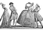 Dibujo para colorear Moda francesa en el siglo 18