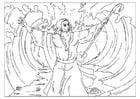 Dibujo para colorear Moisés divide el mar