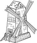 Dibujo para colorear Molino de viento