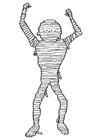 Dibujo para colorear momia