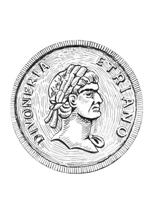 Dibujo para colorear moneda - Img 18978