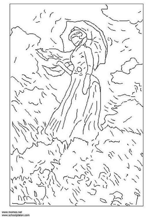 Dibujo para colorear Monet - Img 3120