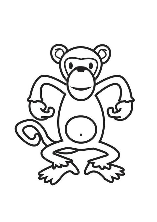Dibujo para colorear mono - Img 17523