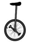Dibujo para colorear monociclo