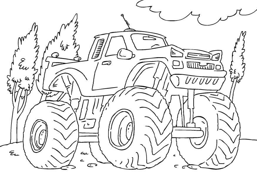 Dibujo Para Colorear Monster Truck Img 27165 Images