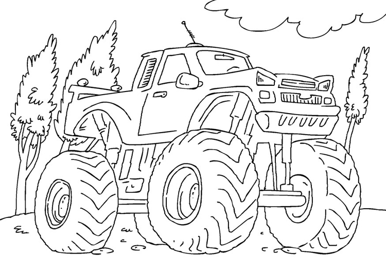 Camionetas monster para colorear - Imagui