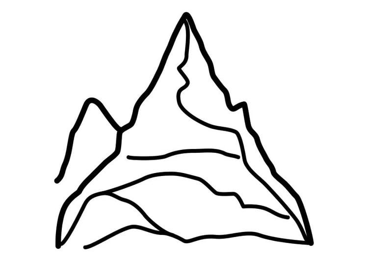Dibujo para colorear Montaña - Img 10450