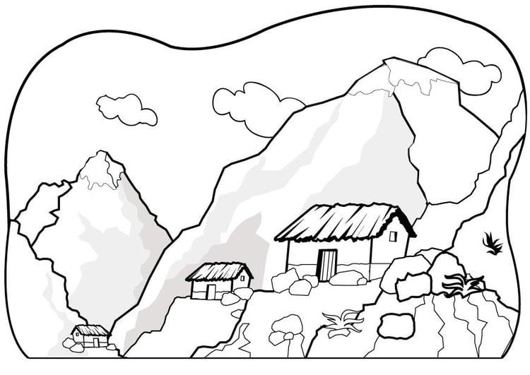 Dibujo para colorear Montañas - Img 7075