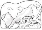 Dibujo para colorear Montañas