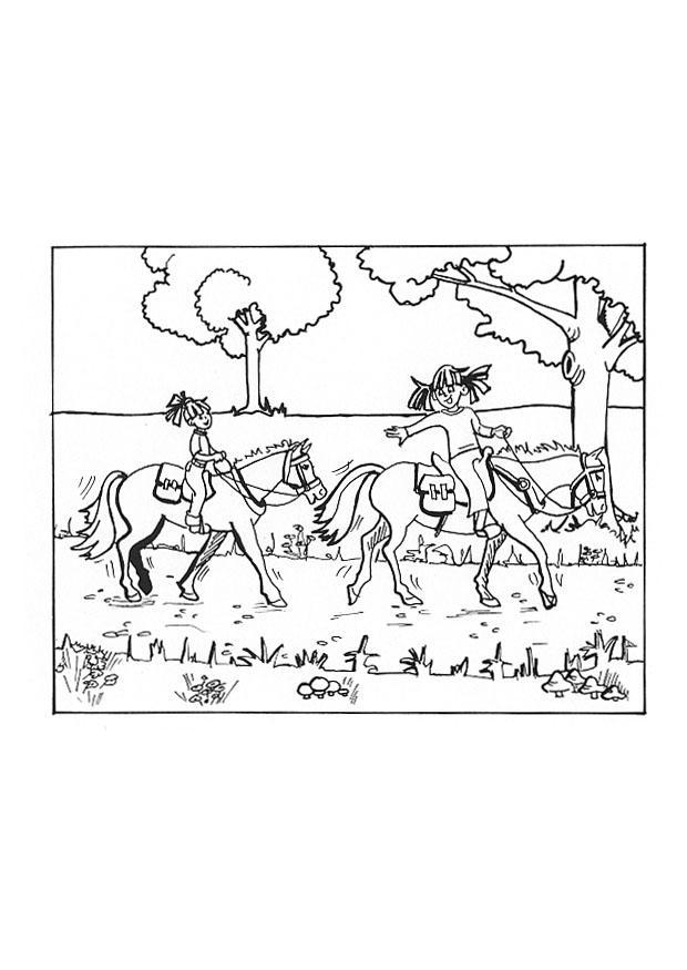 Kinder Kleurplaat Paard Dibujo Para Colorear Montar A Caballo