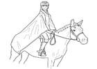 Dibujo para colorear montar a caballo