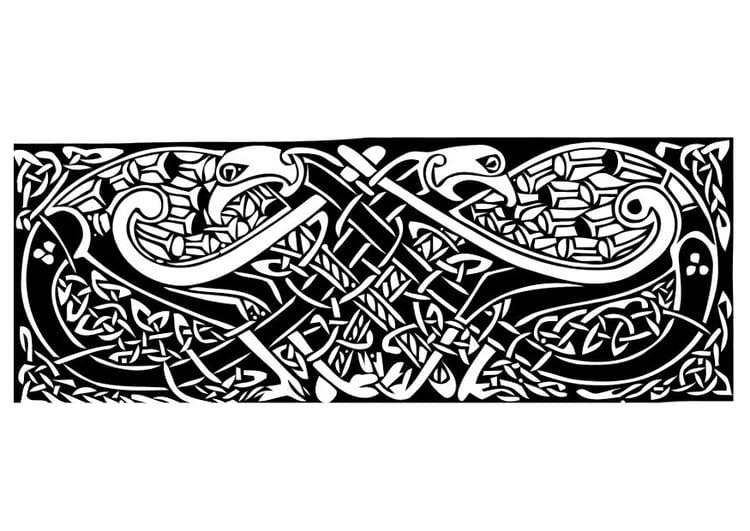 Dibujo para colorear Motivo celta - Img 11020