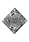 Dibujo para colorear Motivo celta