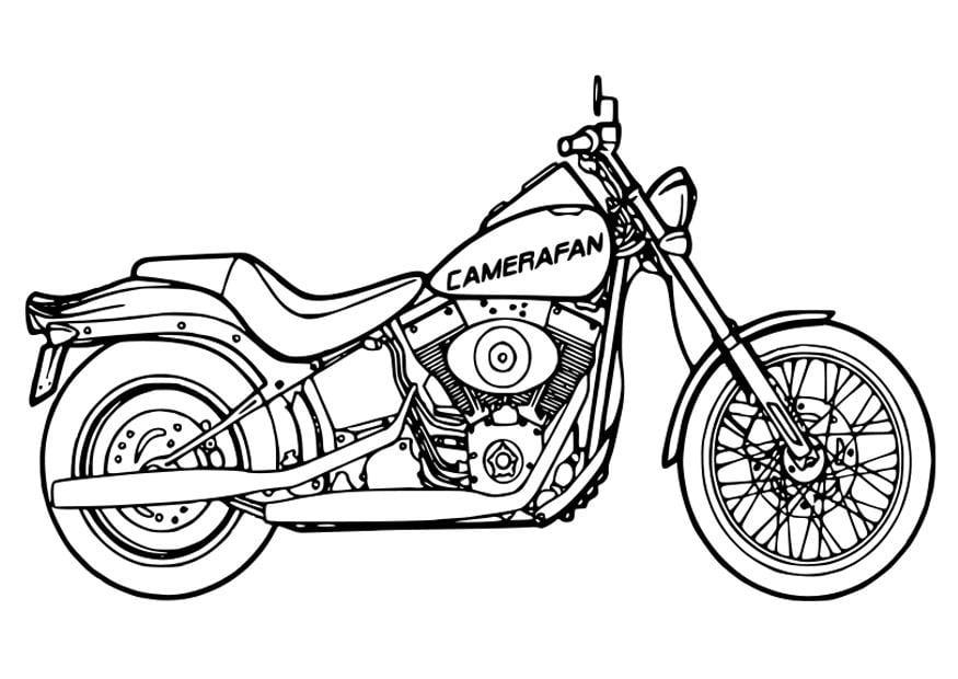 Kleurplaat Motorfiets Dibujo Para Colorear Moto Dibujos Para Imprimir Gratis