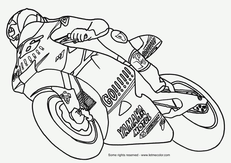 Dibujo para colorear Moto   Img 9787