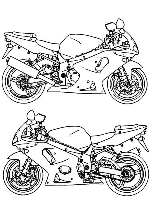 Dibujo Para Colorear Moto Img 16439