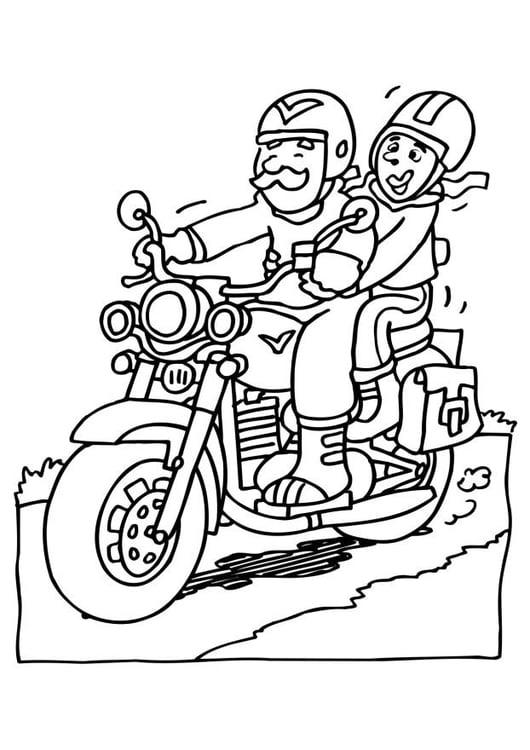 Dibujo para colorear Moto - Img 6526