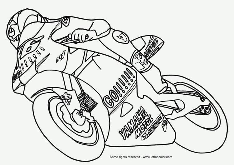 Dibujo Para Colorear Moto Dibujos Para Imprimir Gratis