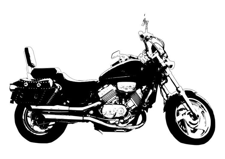 Dibujo Para Colorear Moto Honda Magna Img 27995