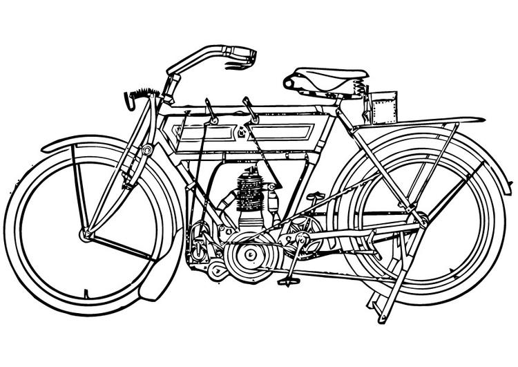 Dibujo para colorear Motocicleta - Img 16453