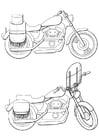 Dibujo para colorear motocicletas
