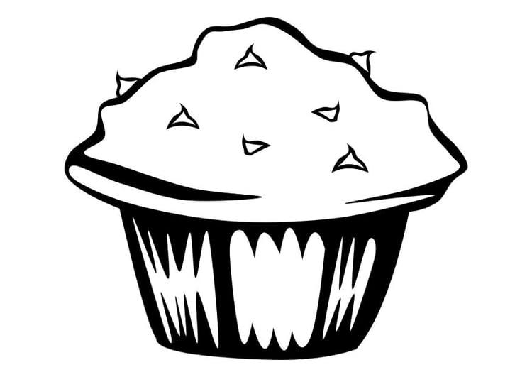 Dibujo para colorear Muffin - Img 10249