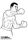 Dibujo para colorear Muhammad Ali