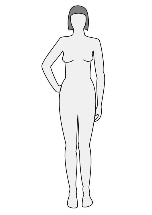 Dibujo Para Colorear Mujer De Frente Img 10225