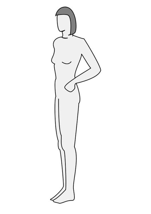 Dibujo Para Colorear Mujer De Perfil Img 10226