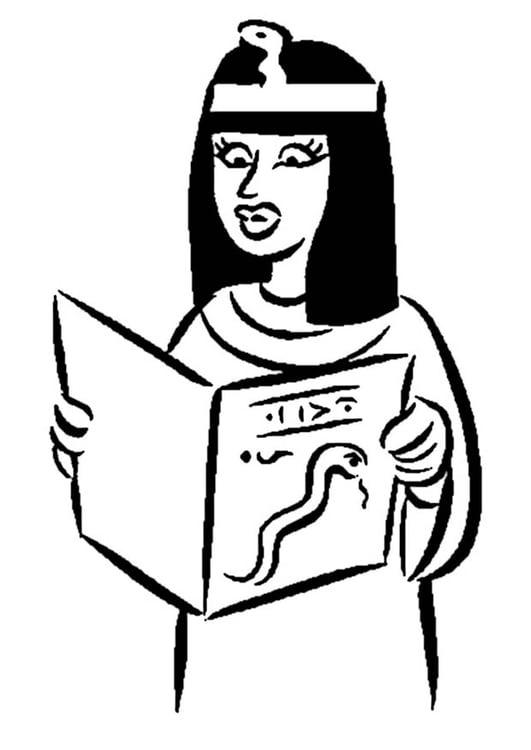 Dibujo para colorear Mujer egipcia - Img 9350