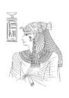 Dibujo para colorear Mujer egipcia
