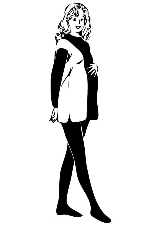 Dibujo Para Colorear Mujer Embarazada Img 11375
