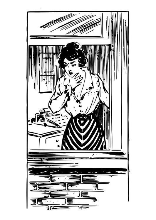 mujer en la ventana: