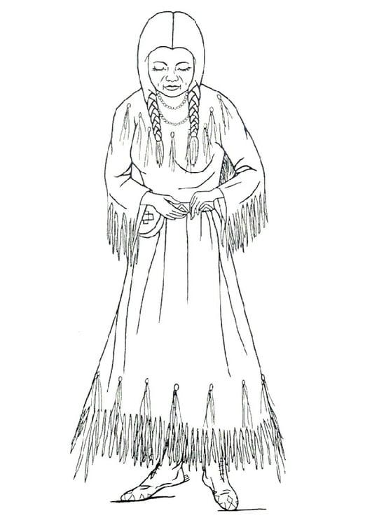 Dibujo Para Colorear Mujer Nez Perce Img 9910