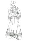 Dibujo para colorear Mujer nez perce