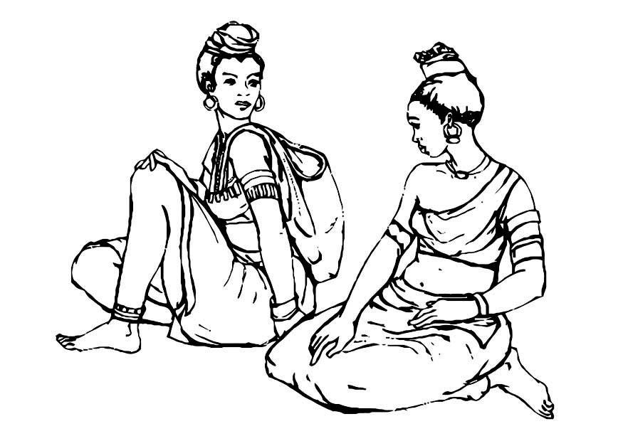 Dibujo para colorear Mujeres - Img 10983