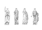 Dibujo para colorear Mujeres romanas