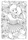 Dibujo para colorear Muñeca - chica