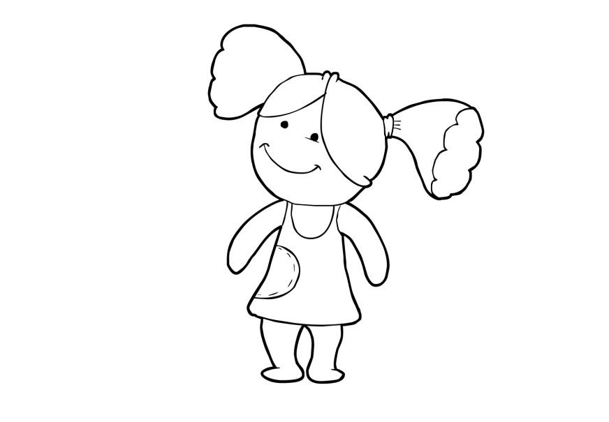 Lujo Muñeca Americana Chica Para Colorear Bandera - Dibujos Para ...