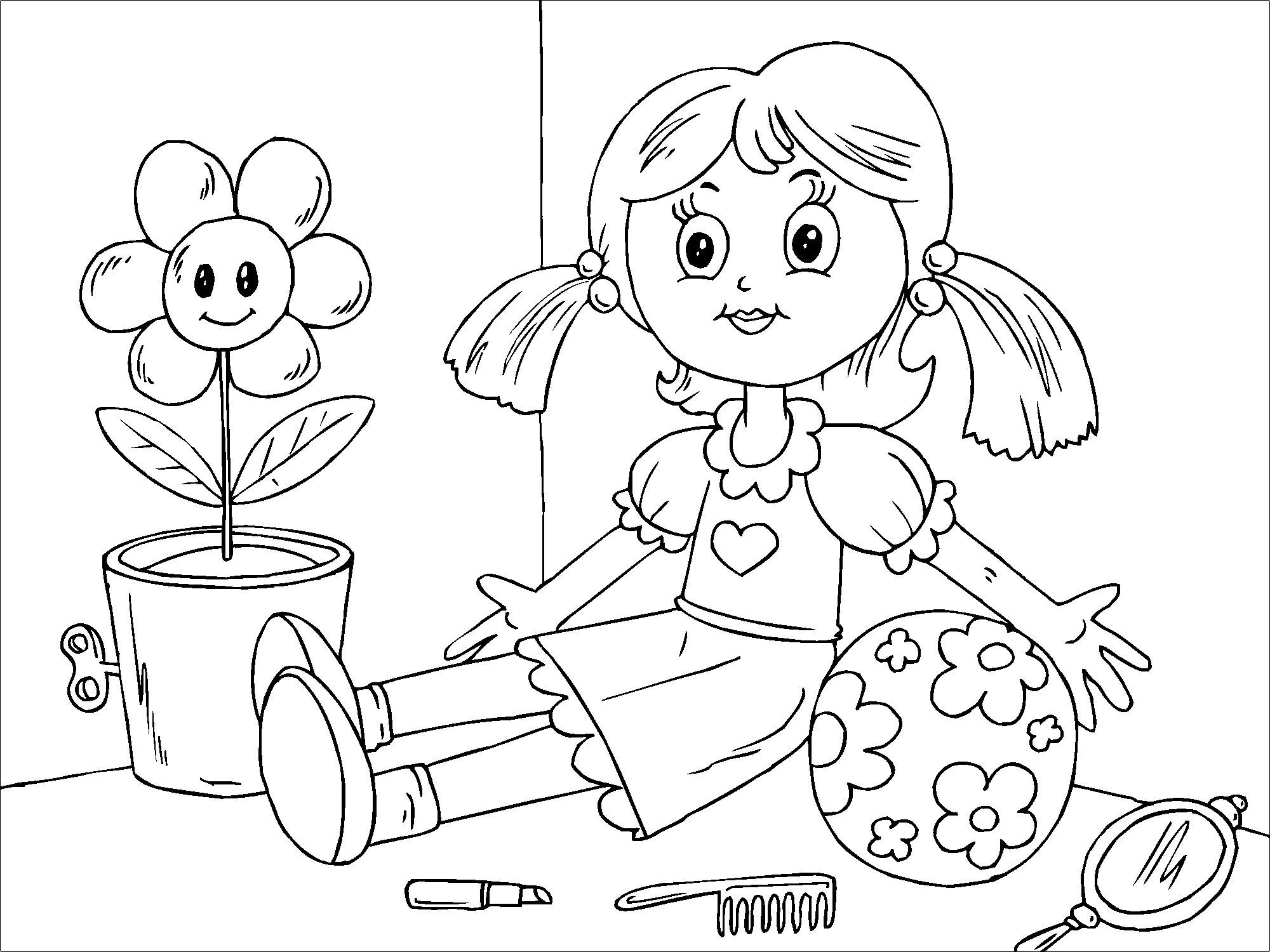 Dibujo para colorear muñeca - Img 22823
